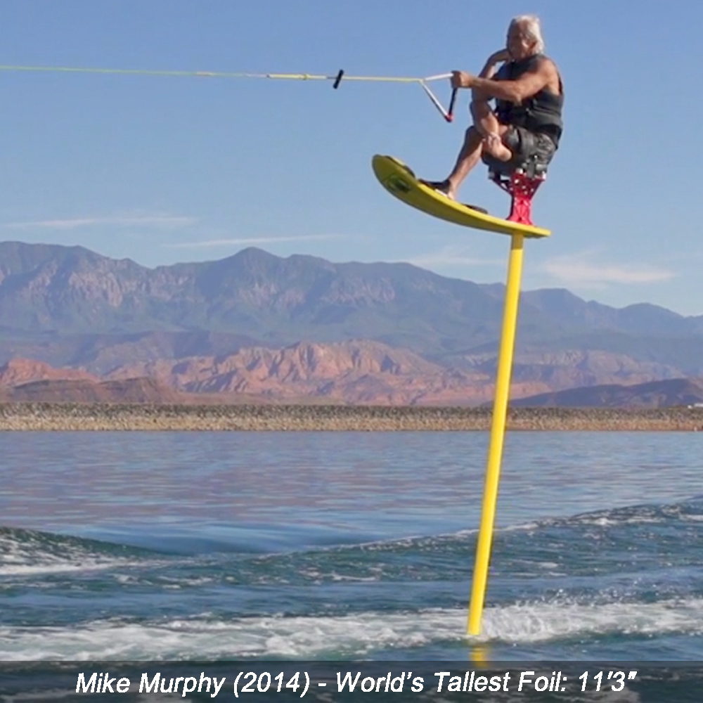 mike murphy world record tallest hydrofoil