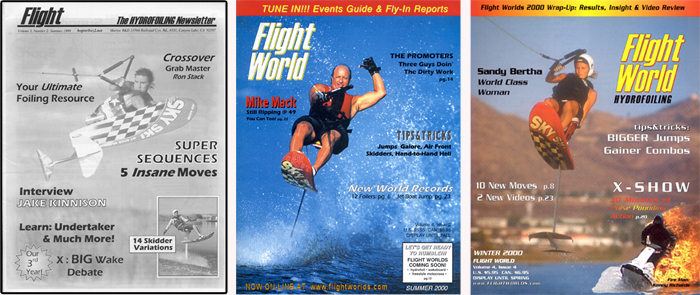 Flight WOrlds Hydrofoiling Newletter Water Skiing Sandy Bertha