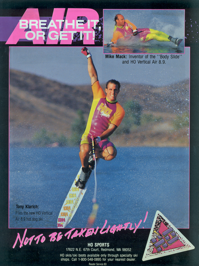 Klarich Water Skier HO Vertical Air Mike Mack Bodyslide