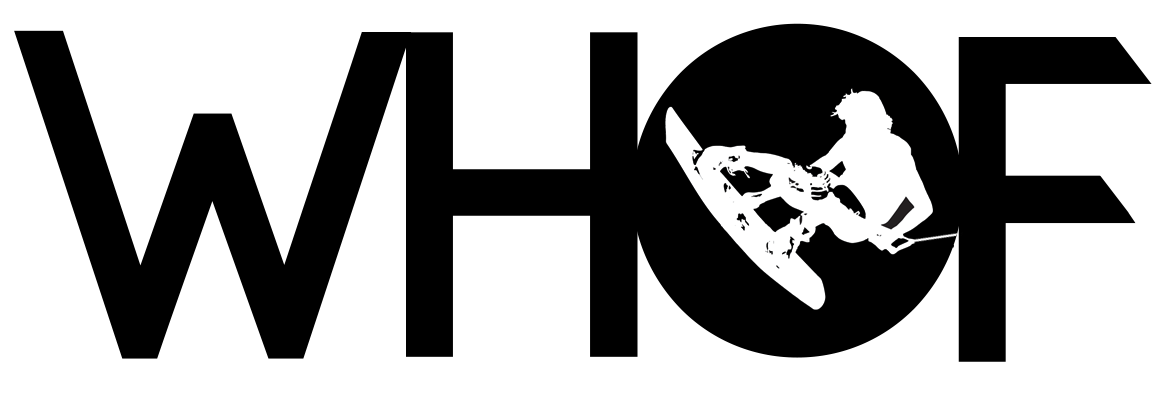 WHOF wakeboarding hall of fame logo