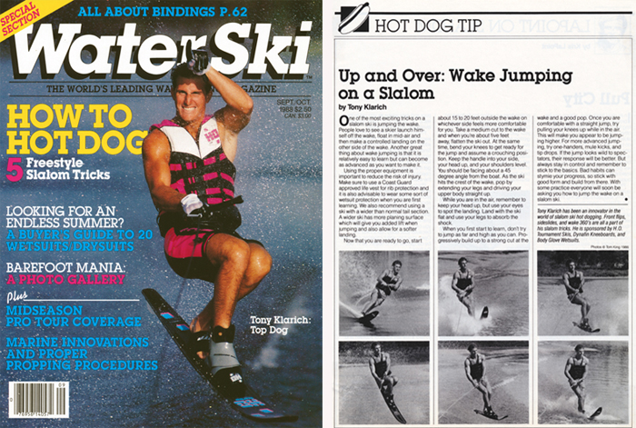 Klarich Water Ski Magazine Cover Hot Dog