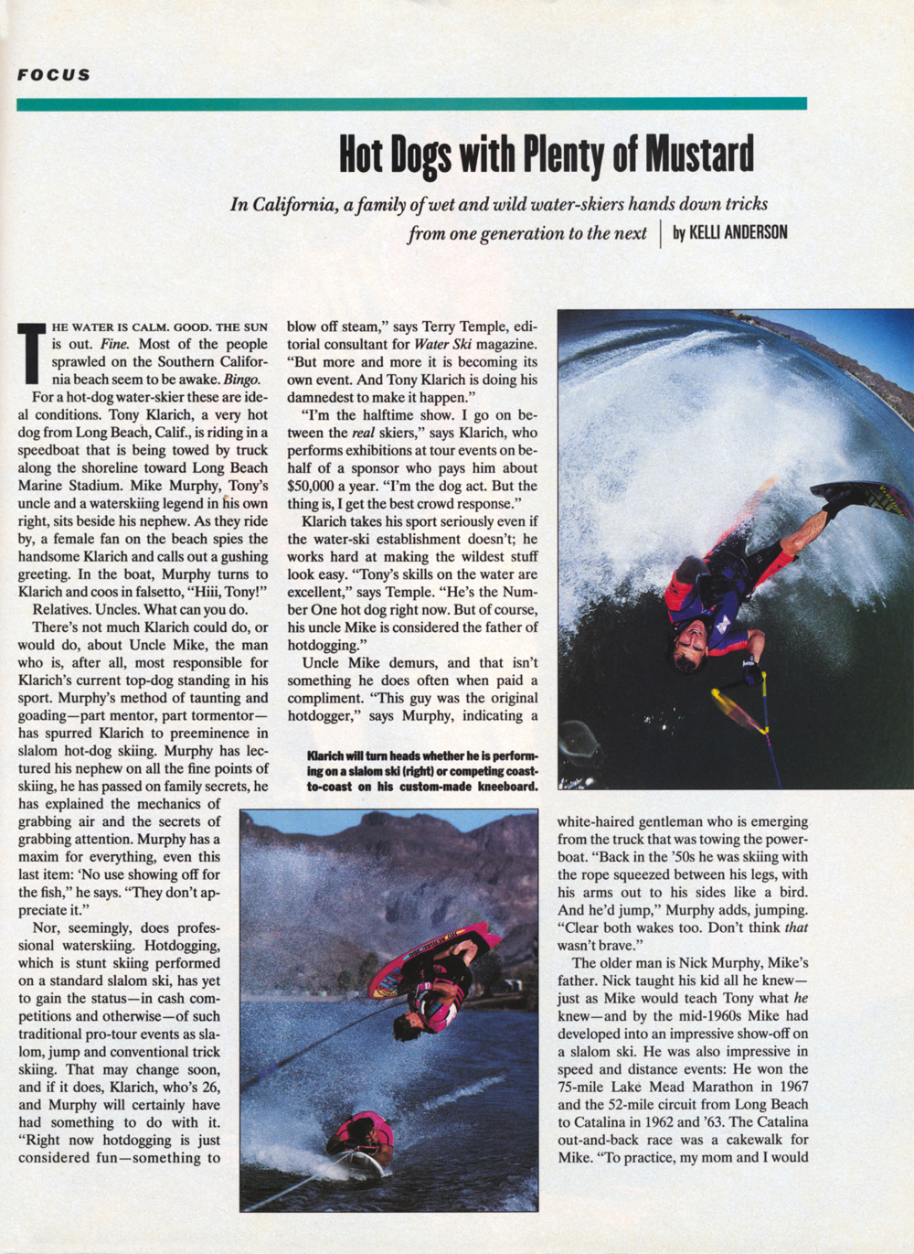Klarich Water Skiing Hot Dog Sports Illustrated 1