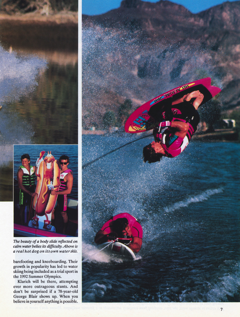 Nissan Hot Dog Water Skiing Klarich Kneeboarding Flip