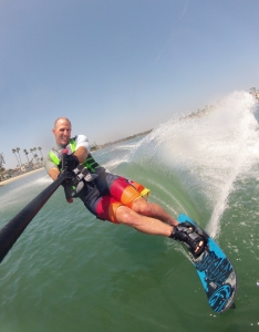 tony klarich slalom water skiing turn spray gopro