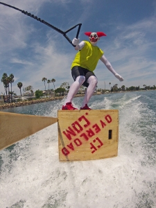 tony klarich water skiing pukie crossfit clown wakeboarding plyo box