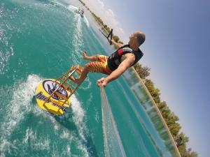 tony klarich water ski stunt body glove disc ladder go pro