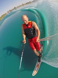 tony klarich slalom water skiing turn spray beautiful HO Turbo classic creative commons gopro